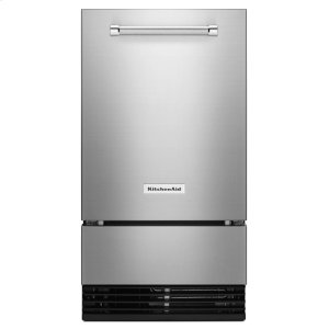 KitchenAid® 18'' Automatic Ice Maker with PrintShield Finish - Stainless Steel with PrintShield™ Finish - STAINLESS STEEL WITH PRINTSHIELD(TM) FINISH