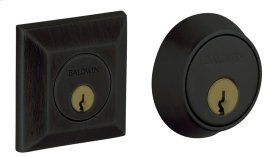 Satin Black Squared Deadbolt