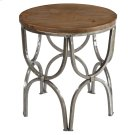 Bengal Manor Mango Wood and Steel Round End Table Product Image