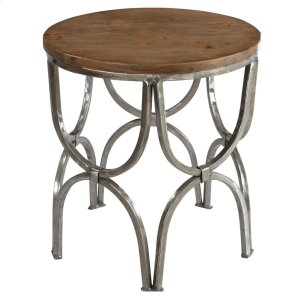 CRESTVIEW COLLECTIONSBengal Manor Mango Wood and Steel Round End Table