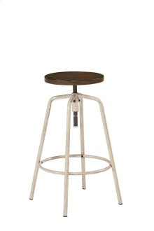 Antique White Factory Stool