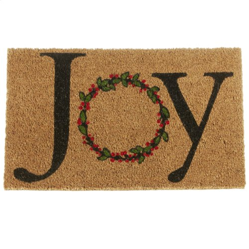 """Joy"" Wreath Doormat."
