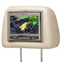 Movies2Go 7 inch universal headrest solution in Tan