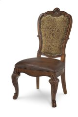 Old World Upholstered Back Side Chair Product Image