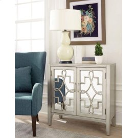 Transitional Champagne Accent Cabinet
