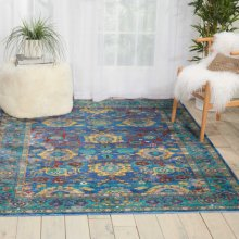 Delmar Dlm04 Blue Rectangle Rug 2' X 3'
