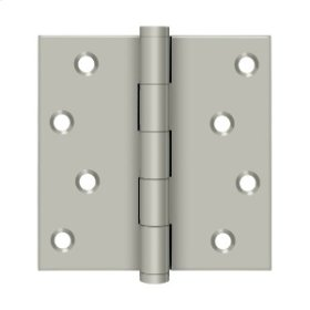 """4""""x 4"""" Square Hinges Residential / Zig-Zag - Brushed Nickel"""