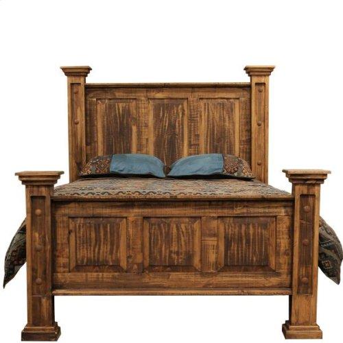 Rough Pine King Bed
