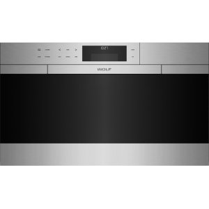 "Wolf30"" M Series Contemporary Stainless Steel Convection Steam Oven with Retractable Handle"