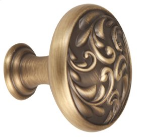 Ornate Knob A3651-14 - Antique English Matte