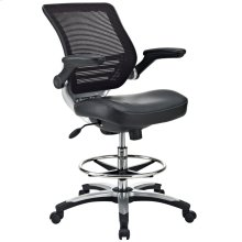Edge Drafting Chair in Black