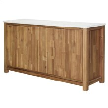 Toledo Sideboard with White Concrete Top, Amber