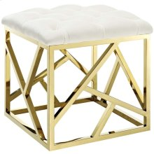 Intersperse Ottoman in Gold Ivory