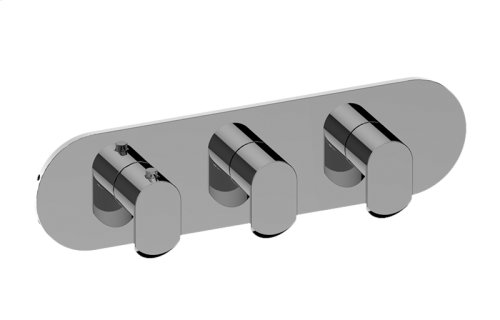 Phase M-Series Valve Horizontal Trim with Three Handles