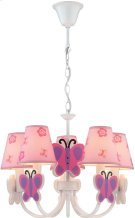 5-lite Ceiling Lamp - Butterfly/fabric Shade, E12 B 40wx5 Product Image