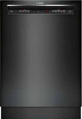 """24"""" Recessed Handle Dishwasher 300 Series- Black SHE53TL6UC"""