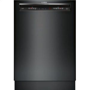 "Bosch24"" Recessed Handle Dishwasher 300 Series- Black SHE53TL6UC"