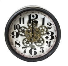 Wall Clock W/ Moving Gears