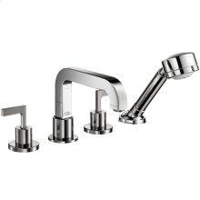 Chrome Citterio 4-Hole Roman Tub Set Trim with Lever Handles
