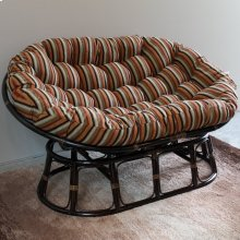Mamasan Rattan Double Papasan Chair with Jacquard Chenille Cushion - Cadillac