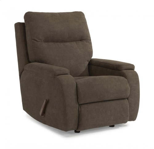 Runway Leather or Fabric Rocking Recliner