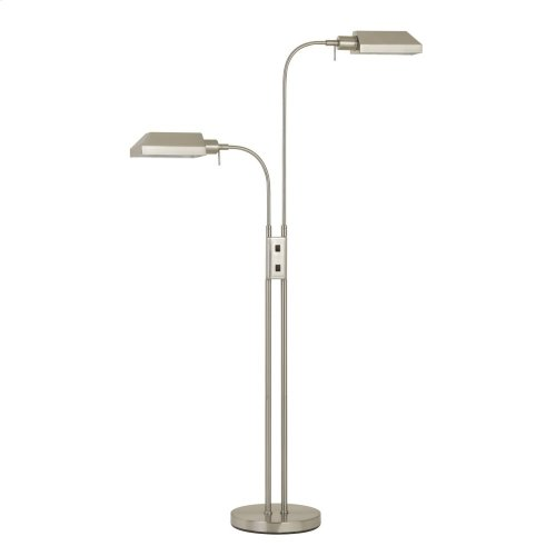 60W X 2 Pharmacy Dual Height Floor Lamp With On Off Rocker Switch
