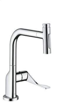 Chrome Single lever kitchen mixer Select 230 2jet with pull-out spray