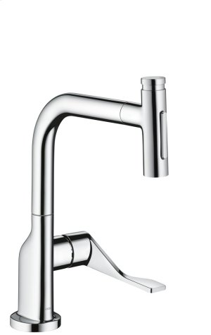 Chrome Single lever kitchen mixer Select 230 2jet with pull-out spray Product Image