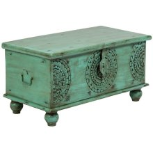 Leelo Coffee Table Trunk, Green, CAR-TR-G