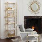 Arbor Etagere-Brass/White Marble Product Image