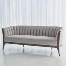 Channel Back Sofa-Silversmith Fabric