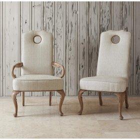 Queen Anne Side Chair - Oak Balsamo/Rain