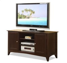 Metro II 52-Inch TV Console Ebony Brown finish
