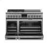 """Fisher & Paykel Dual Fuel Range, 48"""", 4 Burners, 4 Induction Zones, Self-Cleaning, Lpg"""