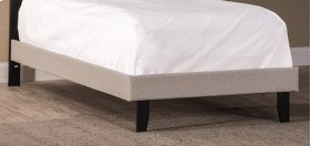 Lawler Twin Fabric Footboard/rails - Cream