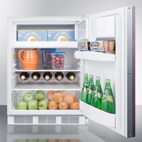 ADA Compliant Built-in Undercounter Refrigerator-freezer for Residential Use, Cycle Defrost With Deluxe Interior, Panel-ready Door, and White Cabinet