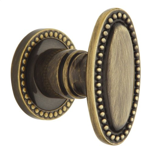 Satin Brass and Black 5060 Estate Knob