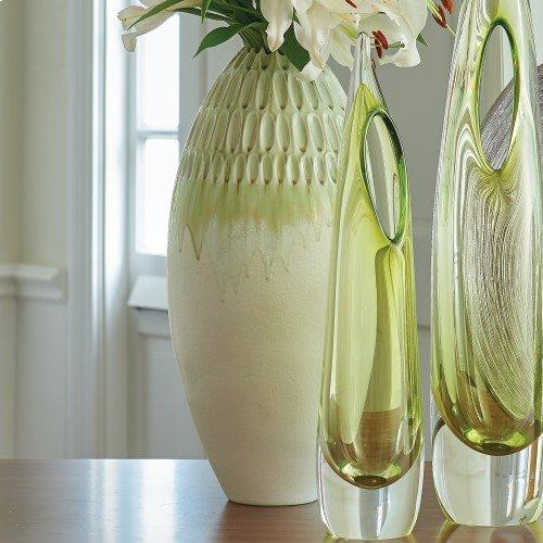 Cut Carved Vase-Sage-Lg