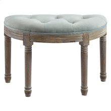 Azalea Half-Moon Bench in Sage Grey