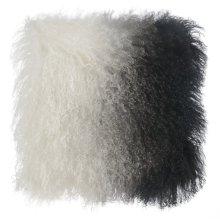 Tibetan Sheep Pillow White to Black
