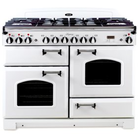 """Vintage White with Cathedral Doors AGA Legacy 44"""" Dual-Fuel Range"""