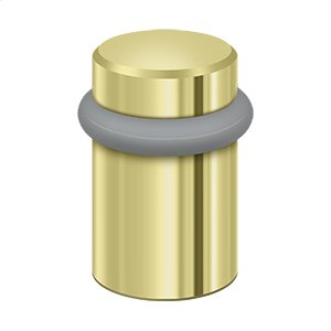 "Round Universal Floor Bumper 2"", Solid Brass - Polished Brass"