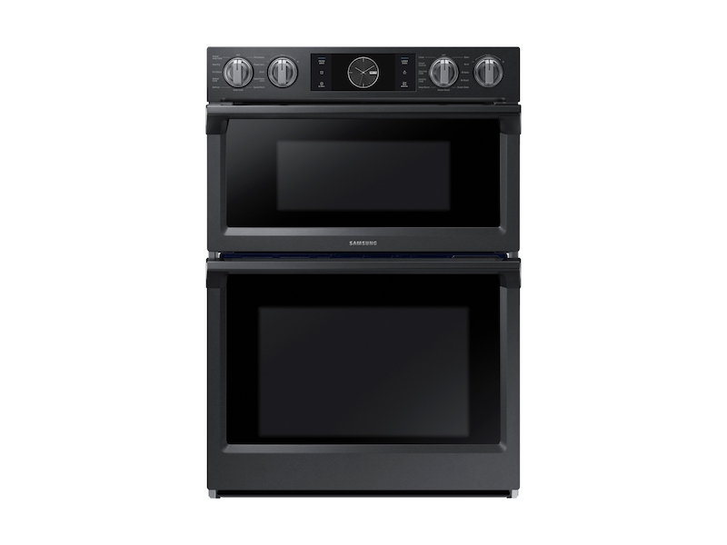 """Samsung30"""" Flex Duo™ Microwave Combination Wall Oven In Black Stainless Steel"""
