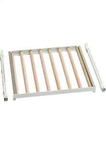 Fully extendable bottle tray in beech and aluminium