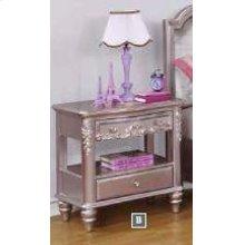 Caroline Metallic Lilac Nightstand