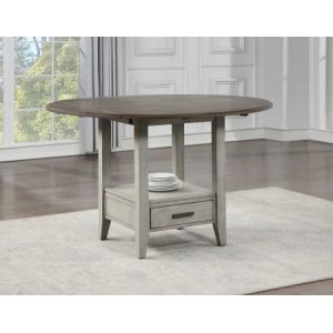 Steve Silver Co.Abacus 59-inch Round Drop-leaf Storage Table