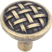 "1-5/16"" Diameter Braided Cabinet Knob."
