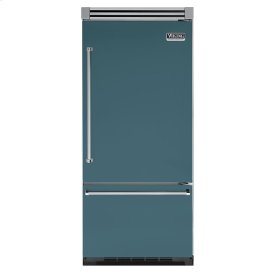 "Iridescent Blue 36"" Quiet Cool™ Bottom-Mount Refrigerator/Freezer - VIBB Tru-Flush™ (Right Hinge Door)"