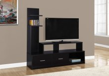 """TV STAND - 60""""L / CAPPUCCINO WITH A DISPLAY TOWER"""