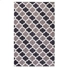 Lida Moroccan Trellis 8x10 Area Rug in Charcoal and Black Product Image
